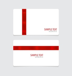 Cards with red ribbon vector image vector image