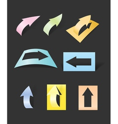 Color arrows stickers collection vector image vector image