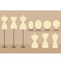 Fashion female mannequins set vector image