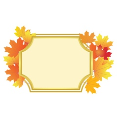 frame with bright autumn leaves vector image