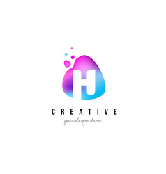 h letter dots logo design with oval shape vector image vector image