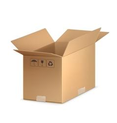 Open carton box vector image