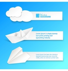 Set of text cards vector image vector image