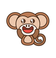 monkey baby animal kawaii design vector image vector image