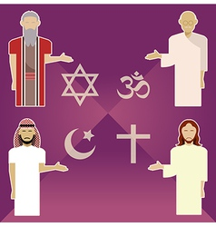 Religions vector image vector image