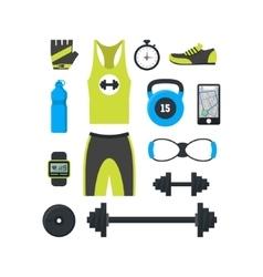 Cartoon Man Sport Set vector image