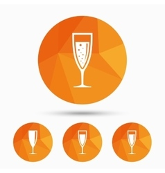 Champagne wine glasses signs Alcohol drink vector image