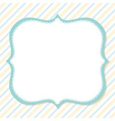 Cute card design vector image vector image