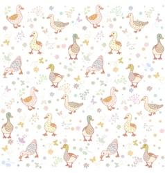 ducks seamless background vector image
