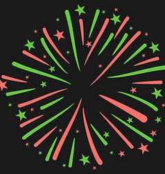 Firework on Black Background New Year Ce vector image