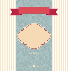 invitation card decorative frame vector image