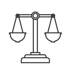 monochrome silhouette of justice scales vector image