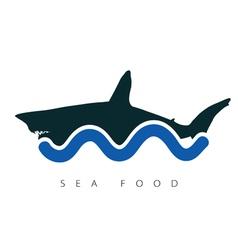 Shark sea food vector