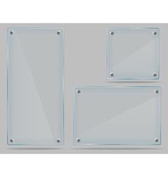 Transparent glass plate 02 vector