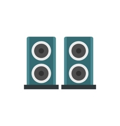 Two audio speakers icon in flat style vector image vector image
