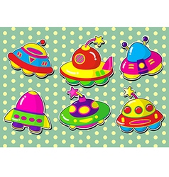 ufo stickers vector image