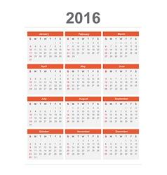 2016 Calendar vector image