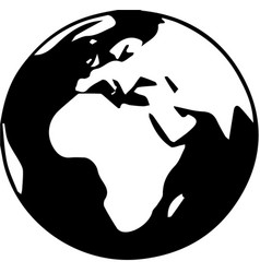 a globe icon on white background vector image