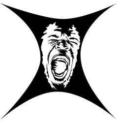A screaming face vector image