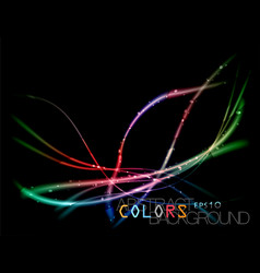 Abstract colored lines scene vector