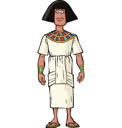 Ancient egyptian nobleman vector
