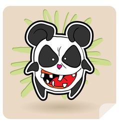 Angry panda vector