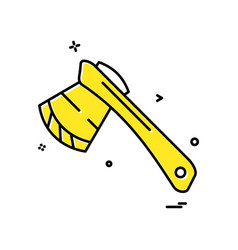 axe icon design vector image