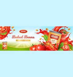 Baked beans vector