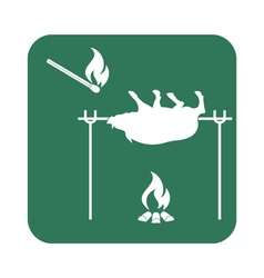 Barbecue Boar Matches icon vector