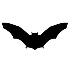 bat silhouette on white background for halloween vector image