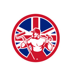 british handyman union jack flag icon vector image