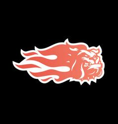 Bulldog fire logo icon for branding car wrap vector