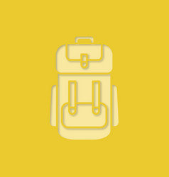 camping backpack paper cut out icon vector image