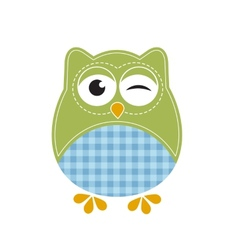 Cartoon owl vector image