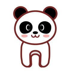 cartoon panda animal image vector image vector image