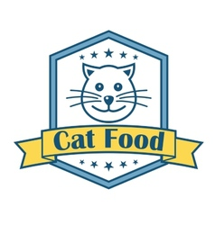 Cat food label vector