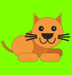 cat in cartoon flat style vector image
