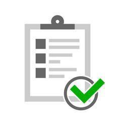 Checklist confirm vector
