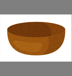 Clay soup bowl isolated on white background vector