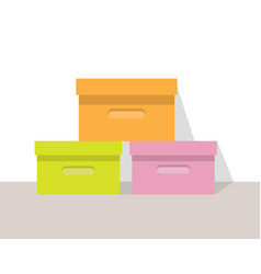 clothing store boxes set vector image