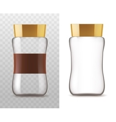 Coffee glass jar isolated icons vector image