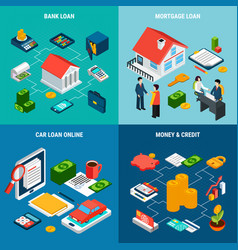 Credit loan design concept vector