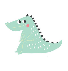 crocodile cartoon crocodile vector image