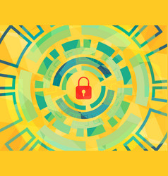 cyber security concept symbol of lock as vector image