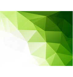 eco geometric green mosaic background vector image