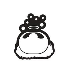 Flat icon in black and white newborn Jesus vector