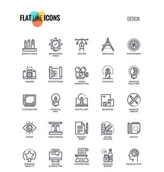 flat line icons design- graphic design vector image