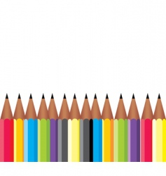frame of pencils vector image
