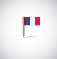 france flag pin vector image