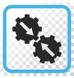 Gear Integration Icon In a Frame vector